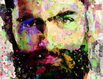 人像炫彩涂抹和绘画效果PS动作