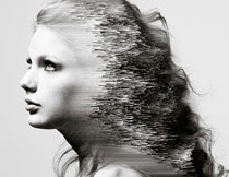人像添加3D像素特效PS动作