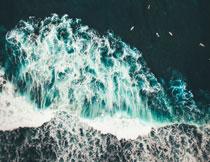 航拍视角大海风光摄影高清图片
