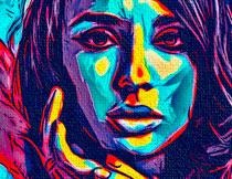 抽象的彩色油画艺术效果PS动作