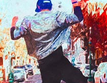 绚丽的油漆绘画艺术效果PS动作