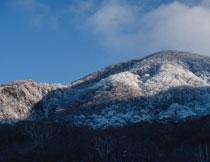 山上树木雾凇景象摄影高清图片