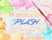 颓废的水彩主题风格PS笔刷