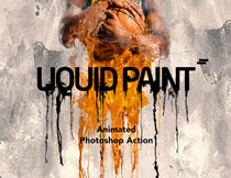 人像添加油漆流淌动画效果PS动作