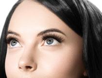 黑发大眼睛的美女摄影高清图片