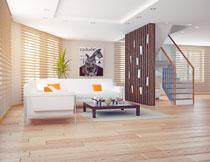 沙发装饰画与隔断摄影高清图片
