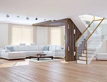 别墅房间组合沙发布置高清图片