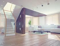 房间楼梯沙发茶几摄影高清图片