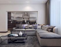 大客厅的内景陈设摄影高清图片