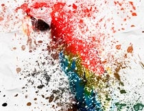 彩色油漆喷溅打散特效PS动作
