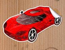 创意的3D贴纸艺术效果PS动作