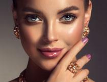 美甲妆容人物特写摄影高清图片
