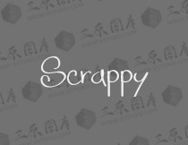 Scrappy-looking_demo英文字体