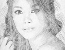 人像素描铅笔画效果PS动作