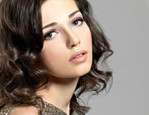 黑色短发美女人物摄影高清图片