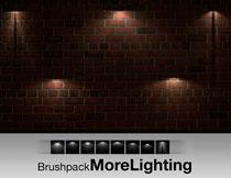 高清晰壁灯灯光照射PS笔刷