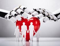 家庭健康保障主题创意高清图片
