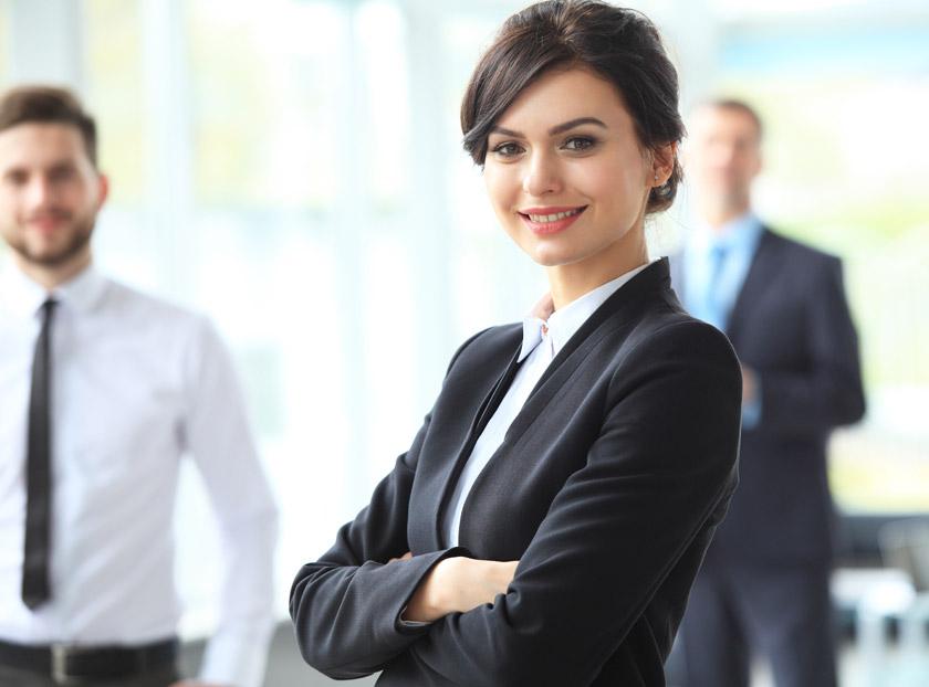 公司职员美女人物摄影高清图片