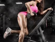 健身锻炼运动美女特写高清图片