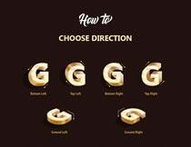 黄金立体字设计PS中文动作